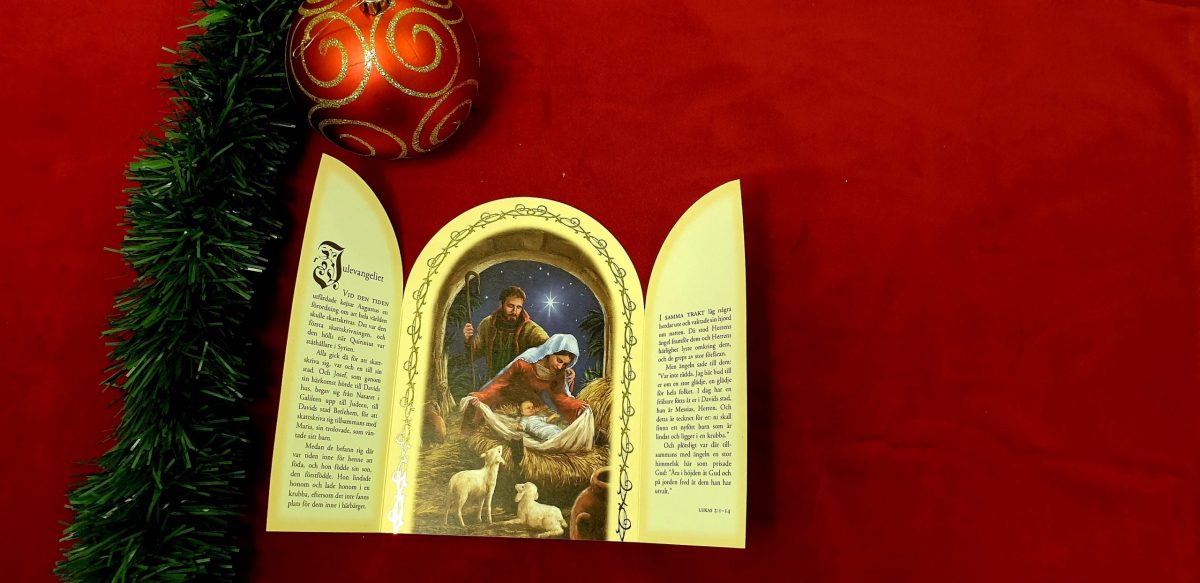 Årets julkort artikelnummer 864 år 2020 via bibelbutiken.se