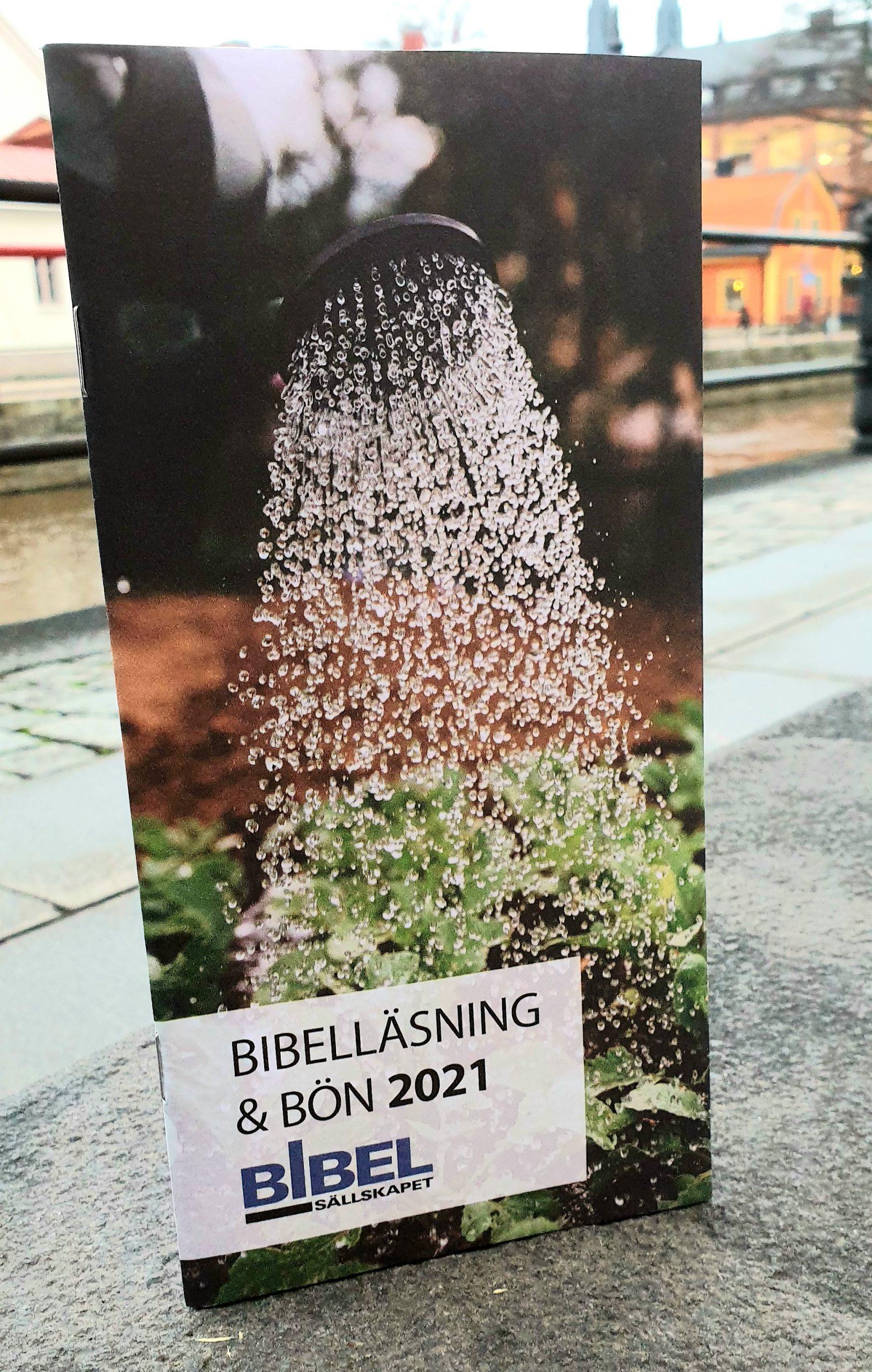 Bibelläsning och bön 2021 artikelnummer 2185 via bibelbutiken.se