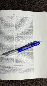 Artikelnummer 2540 anteckningsbibel insida via bibelbutiken.se